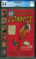 Platinum Age (1897-1937):Miscellaneous, Popular Comics #10 (Dell, 1936) CGC VG- 3.5 Cream to off-white pages.