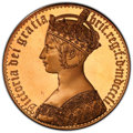 Great Britain: Victoria bronze Proof INA Retro Issue Crown 1851-Dated PR67 Cameo PCGS
