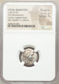 Ancients: LYCIAN LEAGUE. Masicytes. Ca. 48-20 BC. AR hemidrachm (17mm, 12h). NGC Ch AU★ 5/5 - 4/5