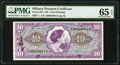 Military Payment Certificates:Series 651, Series 651 $10 First Printing PMG Gem Uncirculated 65 EPQ.. ...