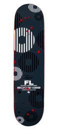 Collectible, Futura 2000 (b. 1955). FL Labratories, 2006. Spray paint and marker on skate deck. 32 x 8 inches (81.3 x 20.3 cm). Limit...