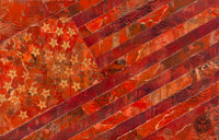 Shepard Fairey (b. 1970) May Day Flag Red (Version 2), 2010 Stencil and mixed media collage on canva