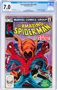 The Amazing Spider-Man #238 (with Tattooz) (Marvel, 1983) CGC FN/VF 7.0 Off-white pages