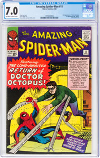 The Amazing Spider-Man #11 (Marvel, 1964) CGC FN/VF 7.0 Off-white to white pages