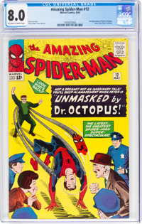 The Amazing Spider-Man #12 (Marvel, 1964) CGC VF 8.0 Off-white to white pages