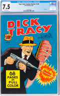 Golden Age (1938-1955):Crime, Four Color (Series One) #8 Dick Tracy (Dell, 1940) CGC VF- 7.5 Off-white pages....