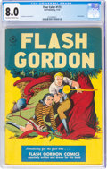 Golden Age (1938-1955):Science Fiction, Four Color #173 Flash Gordon (Dell, 1947) CGC VF 8.0 Off-white to white pages....