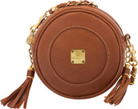 "MCM Brown Leather Crossbody Bag Condition: 4 5.5"" Width x 5.5"" Length x 2"" Depth"
