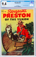 Golden Age (1938-1955):Adventure, Four Color #373 Sergeant Preston of the Yukon (Dell, 1952) CGC NM 9.4 White pages....