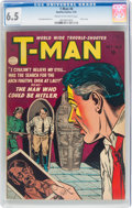 Golden Age (1938-1955):Crime, T-Man #6 (Quality, 1952) CGC FN+ 6.5 Cream to off-white pages....