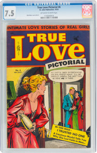 True Love Pictorial #6 (St. John, 1953) CGC VF- 7.5 Off-white to white pages