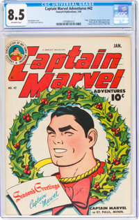 Captain Marvel Adventures #42 (Fawcett Publications, 1945) CGC VF+ 8.5 Off-white pages