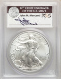 2011 $1 Silver Eagle, 25th Anniversary, Mercanti Signature, First Strike, MS70 PCGS. This lot will also include the foll...