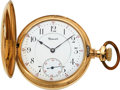 Timepieces:Pocket (post 1900), E. Howard Watch Co. Heavy 14k Gold 16 Size Hunters Case, circa 1909. ...