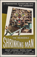 """Movie Posters:Science Fiction, The Incredible Shrinking Man (Universal International, 1957). Fine+ on Linen. One Sheet (27"""" X 41""""). Reynold Brown Artwork. ..."""