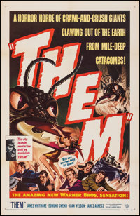 """Them! (Warner Bros., 1954). Very Fine on Linen. One Sheet (27"""" X 41.5""""). Science Fiction"""