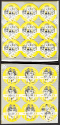 "Movie Posters:Rock and Roll, The Beatles Lot (1964 & 1976). Very Fine-. Uncut Lenticular Booster Pin Sheets (3) (8.75"" X 8.75"") & Promotional Material (8... (Total: 4 Items)"