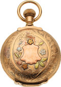 Timepieces:Pocket (pre 1900) , Elgin 14k Multicolor Gold Box Hinge Hunters Case, 16 Size Convertible, circa 1879. ...