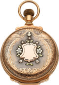 Timepieces:Pocket (post 1900), Waltham 14k Multicolor Gold Box Hinge, 21 Jewel 18 Size Va...