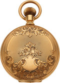 Timepieces:Pocket (pre 1900) , Waltham Outstanding Mint 14k Gold 18 Size Hunters Case, circa 1893. ...