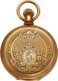 Timepieces:Pocket (pre 1900) , Elgin Mint 14k Gold 16 Size Hunters Case, circa 1879