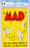 Golden Age (1938-1955):Humor, MAD #18 (EC, 1954) CGC FN- 5.5 Off-white to white pages....