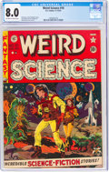 Golden Age (1938-1955):Science Fiction, Weird Science #10 (EC, 1951) CGC VF 8.0 Off-white to white pages....