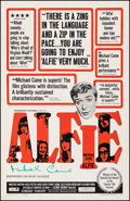"""Movie Posters:Comedy, Alfie (Paramount, 1966). Fine/Very Fine on European Linen. Autographed One Sheet (27"""" X 41.5""""). Comedy.. ..."""