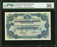 Australia Commonwealth of Australia 50 Pounds ND (1918) Pick 8d R67c PMG About Uncirculated 55