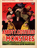 "Movie Posters:Horror, Abbott and Costello Meet Frankenstein (Universal International, 1948). Fine+ on Linen. Trimmed Belgian (14.75"" X 19"").. ..."