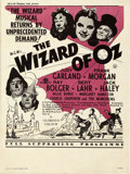 "Movie Posters:Fantasy, The Wizard of Oz (MGM, R-1950's). Folded, Very Fine. British Crown (15"" X 20"").. ..."