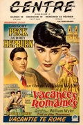 "Movie Posters:Romance, Roman Holiday (Paramount, 1953). Fine+ on Linen. Trimmed Belgian (14.5"" X 21.5"").. ..."