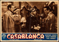 "Movie Posters:Academy Award Winners, Casablanca (Warner Bros., R-1949). Folded, Fine+. Italian Photobusta (13.5"" X 9.5"").. ..."