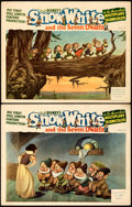 "Movie Posters:Animation, Snow White and the Seven Dwarfs (RKO, 1937). Fine/Very Fine. Lobby Cards (2) (11"" X 14"").. ... (Total: 2 Items)"