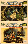 "Movie Posters:Animation, Snow White and the Seven Dwarfs (RKO, 1937). Fine+. Lobby Cards (2) (11"" X 14"").. ... (Total: 2 Items)"