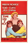 Movie Posters:Comedy, Some Like It Hot (United Artists, 1959). Very Fine- on Lin...