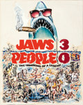 "Movie Posters:Comedy, Jaws 3, People 0 (Universal, 1979). Very Fine-. Original Mixed Media Concept Artwork on Illustration Board (21.5"" X 27.5"")...."