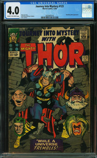 Journey Into Mystery #123 (Marvel, 1965) CGC VG 4.0 CREAM TO OFF-WHITE pages