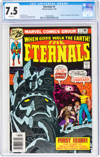 The Eternals #1 (Marvel, 1976) CGC VF- 7.5 White pages