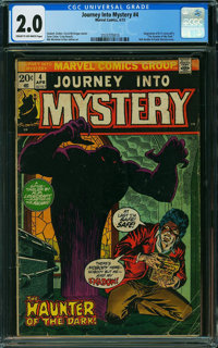 Journey Into Mystery (2nd Series) #4 (Marvel, 1973) CGC GD 2.0 CREAM TO OFF-WHITE pages