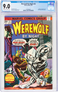 Werewolf by Night #32 (Marvel, 1975) CGC VF/NM 9.0 Off-white to white pages