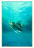Movie Posters:Adventure, Beyond the Reef by Rudy Obrero (Universal, 1981). Very Fine. Signed Original Mixed Media Concept Artwork on Illustration Boa...