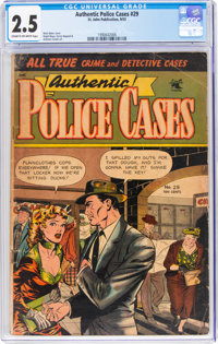 Authentic Police Cases #29 (St. John, 1953) CGC GD+ 2.5 Cream to off-white pages