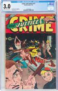 Golden Age (1938-1955):Crime, Crime and Justice #11 (Charlton, 1953) CGC GD/VG 3.0 Cream to off-white pages....