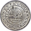 Colonials, 1776 $1 Continental Dollar, CURRENCY, Pewter, EG FECIT, MS64 PCGS. CAC. Newman 3-D, Breen-1095, W-8460, R.4.. ...