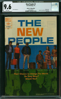 New People #2 - John G. Fantucchio (Dell, 1970) CGC NM+ 9.6 WHITE pages