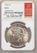 Peace Dollars: , 1928-S $1 MS65 NGC. Pop (40/1), CDN Collector Price ($16300.00), CCDN Price ($8400.00), Trends ($25000.00), CAC (9/0)