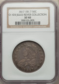 Bust Half Dollars, 1817 50C 181.7, O-103, R.2, XF40 NGC. Ex: Jules Reiver Collection. NGC Census: (3/19). PCGS Population: (5/24). XF40. ...