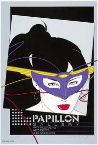 Patrick Nagel Papillon Gallery Limited Edition Signed Serigraph AP(Mirage Editions, 1981)