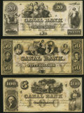 Obsoletes By State:Louisiana, New Orleans, LA- New Orleans Canal and Banking Company $20, $50, $100 18__ Remainders Crisp Uncirculated.. ... (Total: 3 notes)